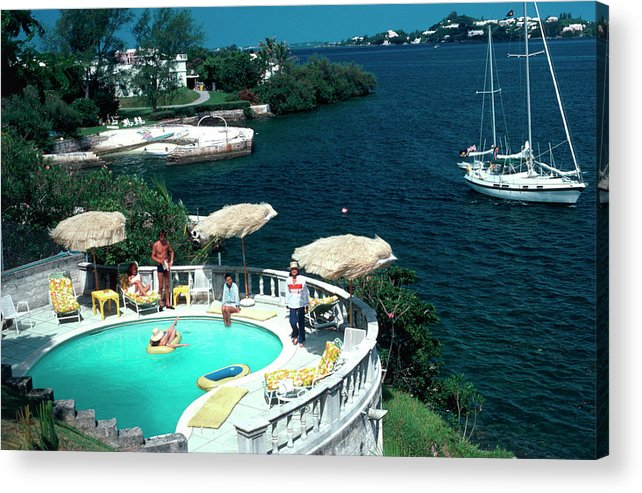 People Acrylic Print featuring the photograph Bermuda Idyll by Slim Aarons