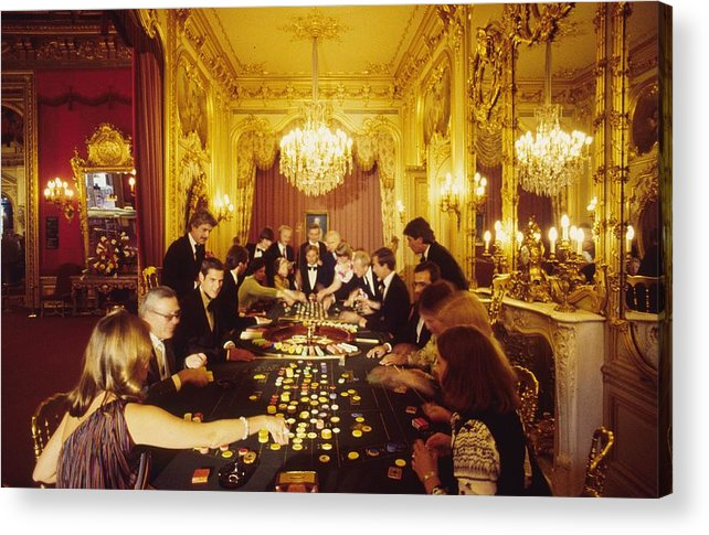 Baden-baden Acrylic Print featuring the photograph Casino Life by Slim Aarons