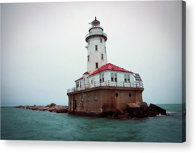 Lighthouse Acrylic Print featuring the photograph Chicago Lighthouse by Fred DeSousa