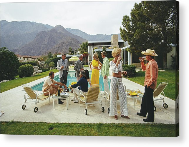 People Acrylic Print featuring the photograph Desert House Party by Slim Aarons
