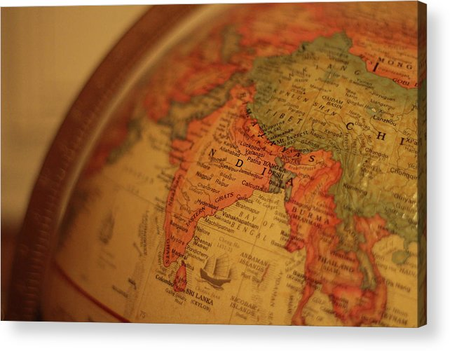 Globe Acrylic Print featuring the photograph Global India by Fred DeSousa