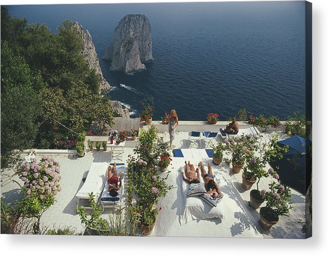 1980-1989 Acrylic Print featuring the photograph Il Canille by Slim Aarons