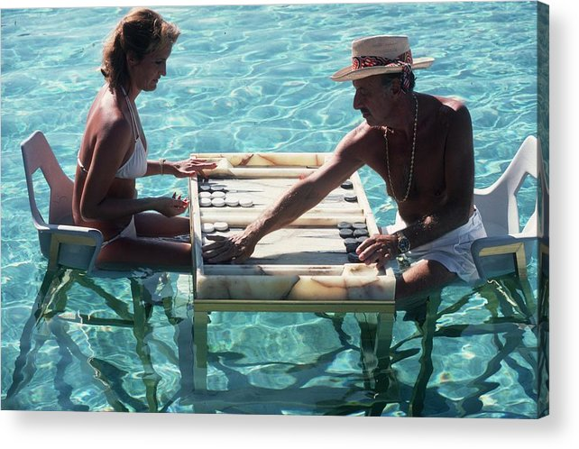 Straw Hat Acrylic Print featuring the photograph Keep Your Cool by Slim Aarons