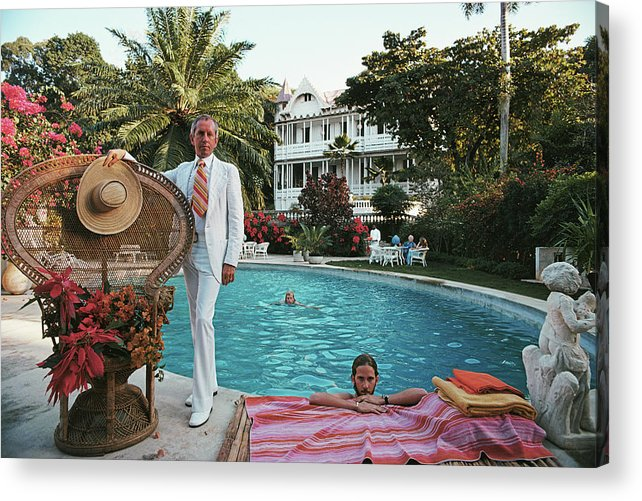 Crowd Acrylic Print featuring the photograph Lawrence Peabody II by Slim Aarons