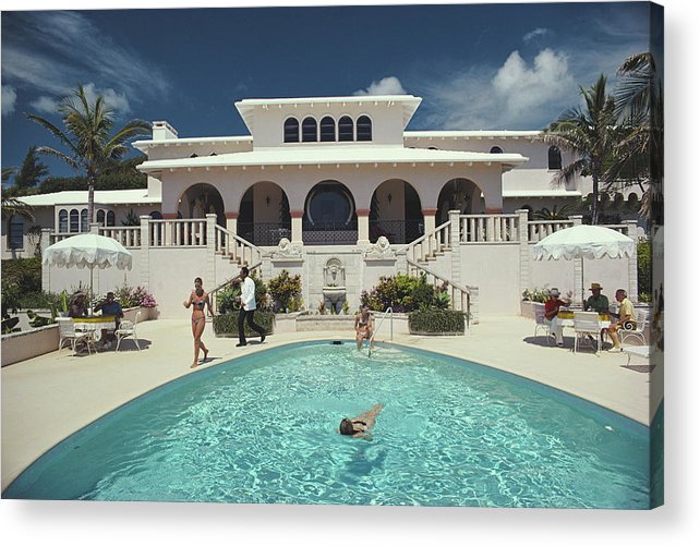 Architectural Feature Acrylic Print featuring the photograph Mcmartin Villa by Slim Aarons