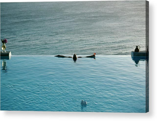 1980-1989 Acrylic Print featuring the photograph Mustique Pool by Slim Aarons