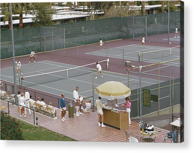 Tennis Acrylic Print featuring the photograph Palm Springs Tennis Club by Slim Aarons