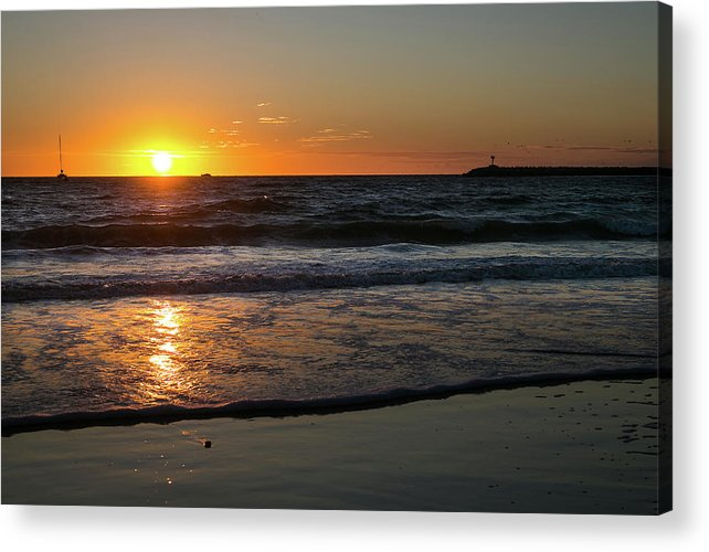 Sunset Acrylic Print featuring the photograph Playa del Rey Sunset by Fred DeSousa