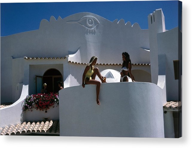 1980-1989 Acrylic Print featuring the photograph Portuguese Villa by Slim Aarons