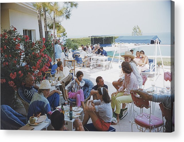 1957 Acrylic Print featuring the photograph Riviera Crowd by Slim Aarons