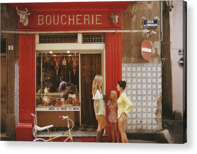 Child Acrylic Print featuring the photograph Saint-tropez Boucherie by Slim Aarons
