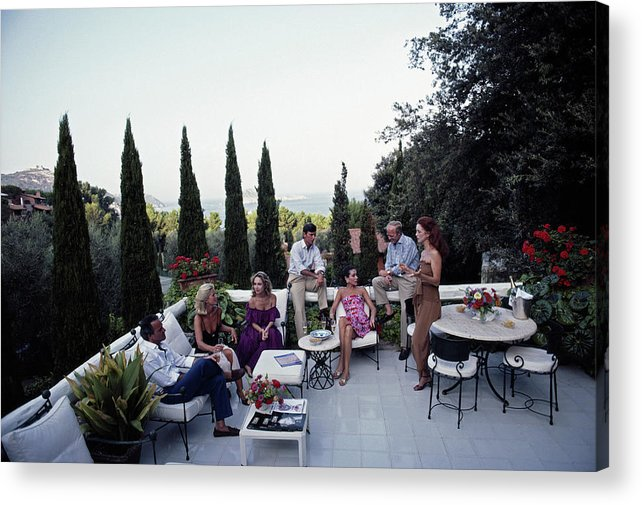 1980-1989 Acrylic Print featuring the photograph Scio Guests by Slim Aarons