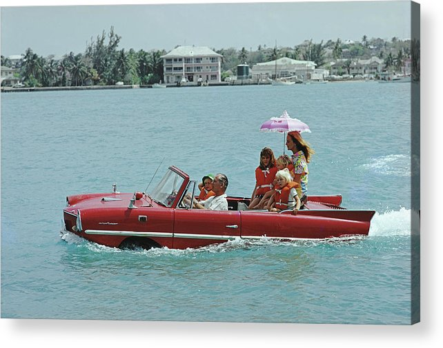 Child Acrylic Print featuring the photograph Sea Drive by Slim Aarons