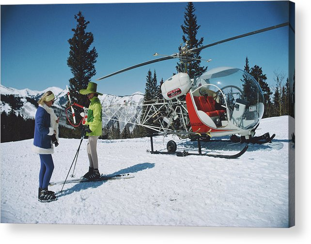 Snow Acrylic Print featuring the photograph Snowmass Village by Slim Aarons