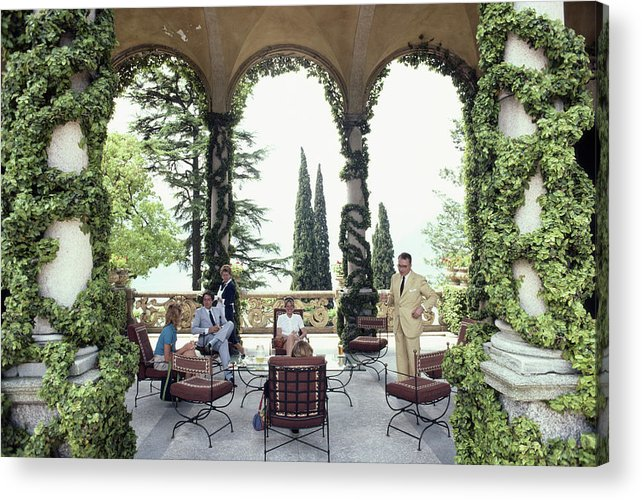 1980-1989 Acrylic Print featuring the photograph Villa Del Balbianello by Slim Aarons