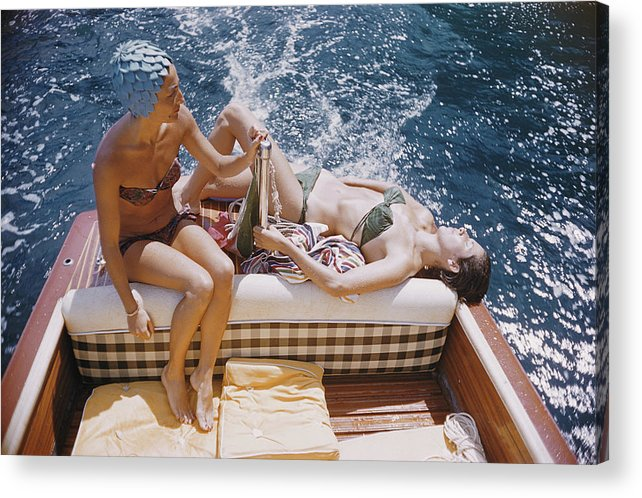 1950-1959 Acrylic Print featuring the photograph Vuccino And Rava by Slim Aarons