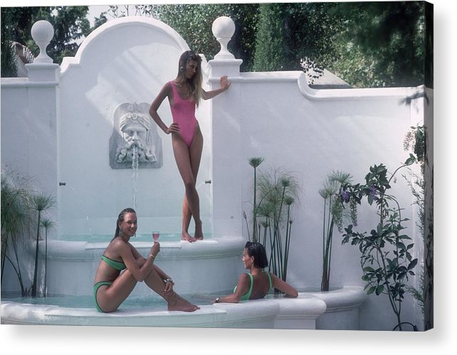 1980-1989 Acrylic Print featuring the photograph Water Nymphs by Slim Aarons