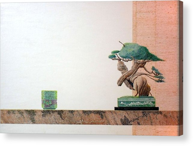 Still Life Acrylic Print featuring the painting Second Cup by A Robert Malcom