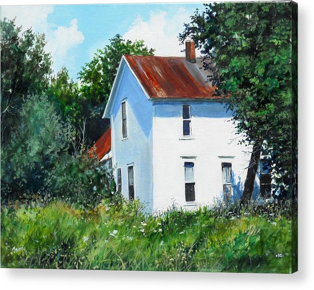Landscape Acrylic Print featuring the painting White House by William Brody