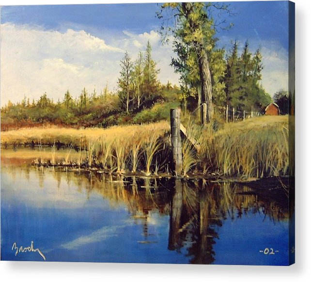 Landscape Acrylic Print featuring the painting Along The Way by William Brody