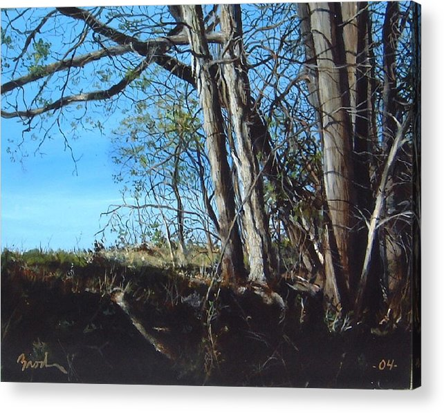 Landscape Acrylic Print featuring the painting Step Into Morning by William Brody
