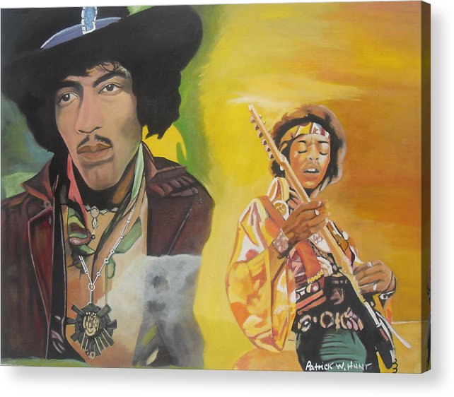 Jimmy Hendrix Acrylic Print featuring the painting Jimmy Hendrix by Patrick Hunt