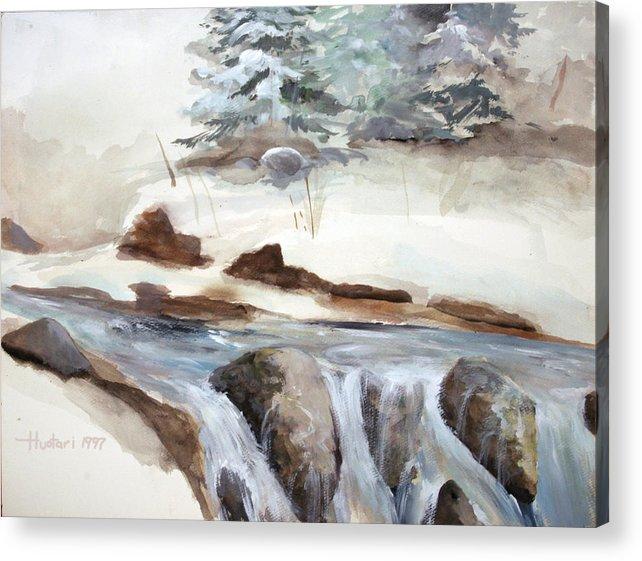 Rick Huotari Acrylic Print featuring the painting Springtime by Rick Huotari