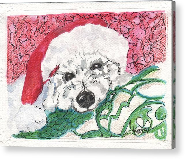 Animals Acrylic Print featuring the painting A Long Christmas Night by Jimmie Trotter