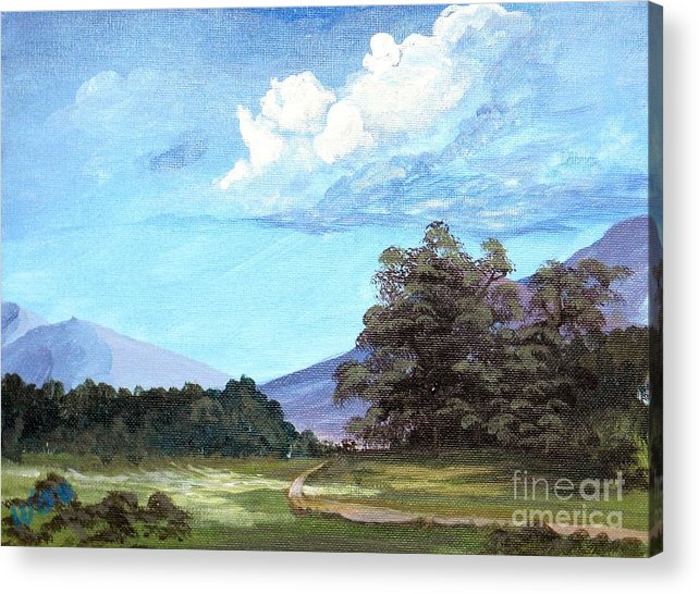 Road Acrylic Print featuring the painting Three Mile Road by John Wise