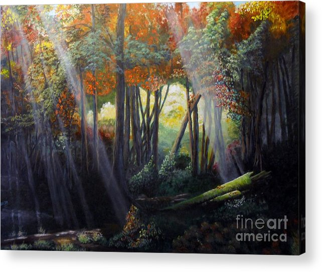 Path Acrylic Print featuring the painting The Way Home by John Wise