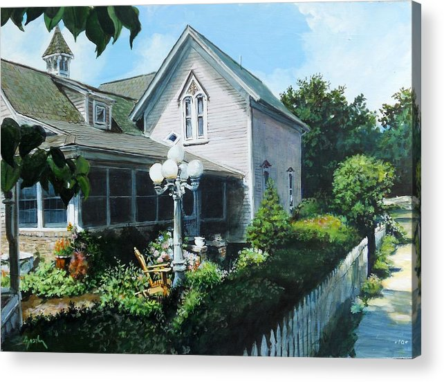 Landscape Acrylic Print featuring the painting Afternoon Stroll by William Brody