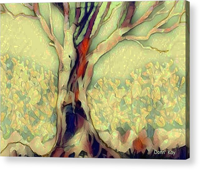 Trees Acrylic Print featuring the digital art An Artists Tree by Donn Kay