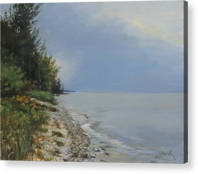 Lake Huron Acrylic Print featuring the painting Places We've Been by William Brody