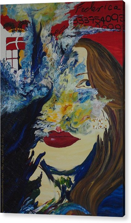 Como Acrylic Print featuring the painting Fede The Como Girl by Gregory Allen Page