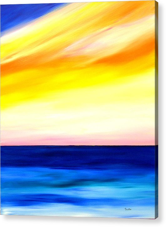Caribbean Acrylic Print featuring the painting Sea Sweet Sky by Sula Chance