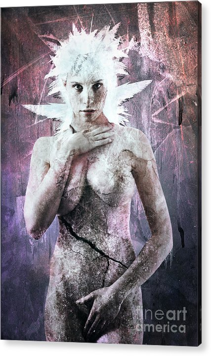 Elsa Acrylic Print featuring the digital art Goddess Of The Water Oh My Goddess Edition by Michael Volpicelli