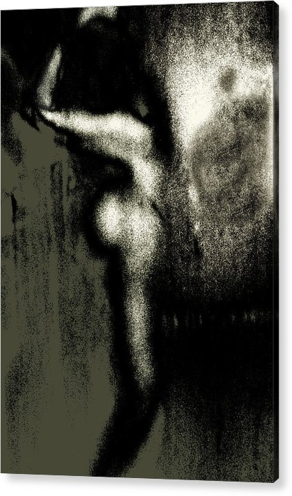 Acrylic Print featuring the photograph Girl Washing Her Hair by Joseph Reilly