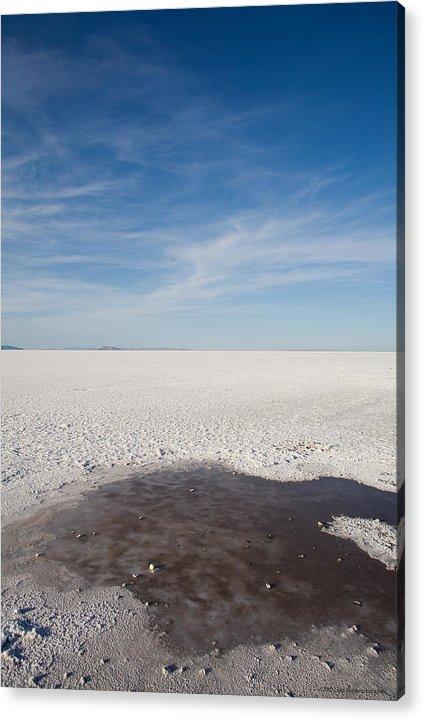 U.s.a. Acrylic Print featuring the photograph Salt Flats by Luigi Barbano BARBANO LLC