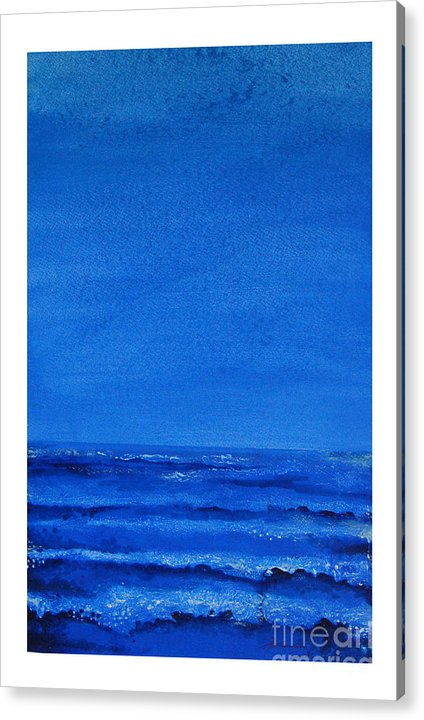 Abstract Acrylic Print featuring the painting Seascape-0 by Padmakar Kappagantula