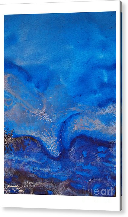 Abstract Acrylic Print featuring the painting Seascape-1 by Padmakar Kappagantula