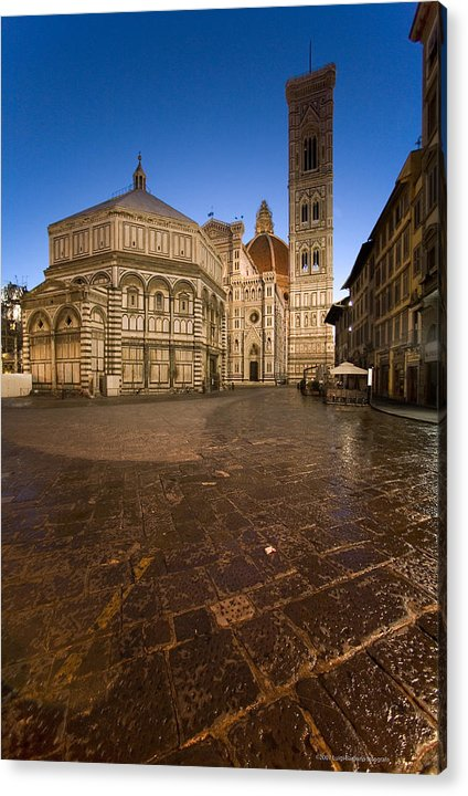Italy Acrylic Print featuring the photograph Sunrise In Florence 2 by Luigi Barbano BARBANO LLC