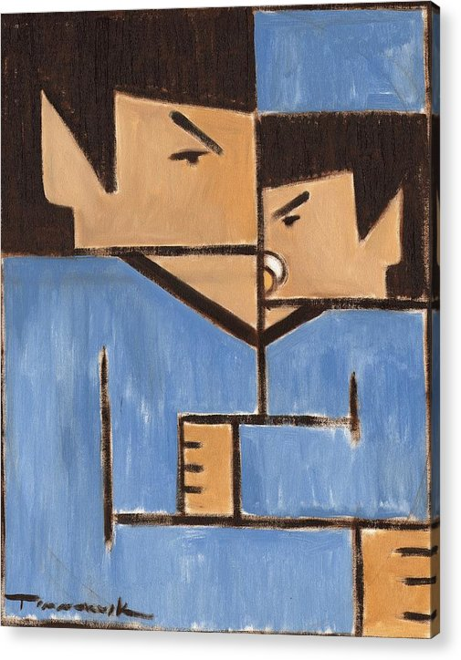 Spock Acrylic Print featuring the painting Cubism Spock baby Spock Art Print by Tommervik