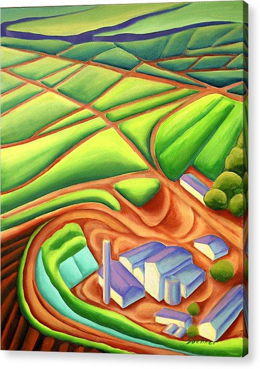 Hawaiian Landscape Acrylic Print featuring the painting Sugar Mill by Lynn Soehner