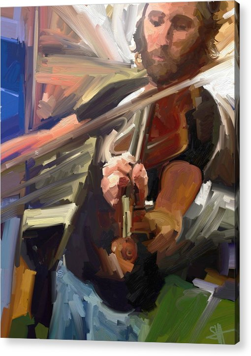 Art Acrylic Print featuring the digital art The Fiddler by Scott Waters