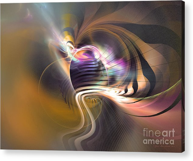 Fractal Acrylic Print featuring the digital art Pathfinder by Sipo Liimatainen