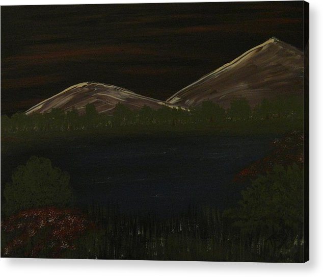 Dark Acrylic Print featuring the painting Late Night by Tanja Beaver