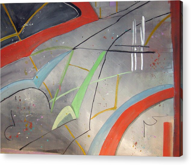 Abstract Acrylic Print featuring the painting Highways And Biways by Charline Gardhouse