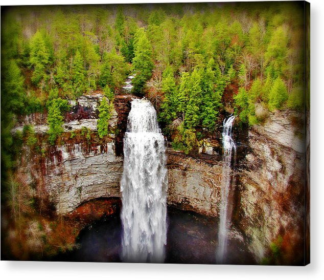 Tennessee Acrylic Print featuring the photograph Falls Creek Falls by Jeremy Carter