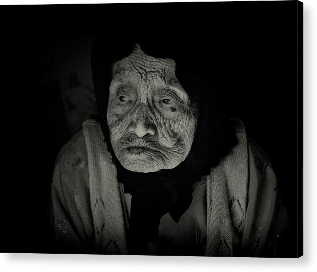 Old Woman Acrylic Print featuring the photograph Old Woman Of Ha Long Bay by Randy Cummings