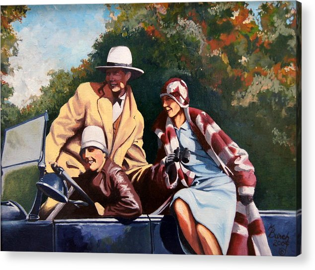 1930's Acrylic Print featuring the painting Sneider by Kerry Burch